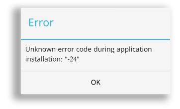 Error 24 android play store