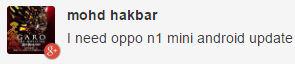 Oppo N1 Mini update