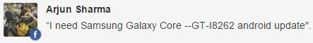 Samsung Galaxy Core update
