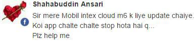 Intex Cloud M6 update