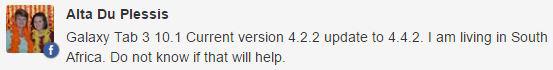 Samsung Galaxy Tab 3 10.1 update