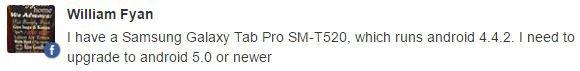 Samsung Galaxy Tab Pro update