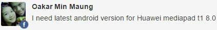 Huawei MediaPad T1 8.0 update
