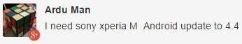 Sony Xperia M update