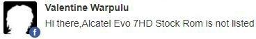 Alcatel One Touch Evo 7 HD update