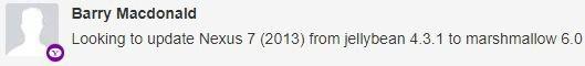 Google Nexus 7 2013 update
