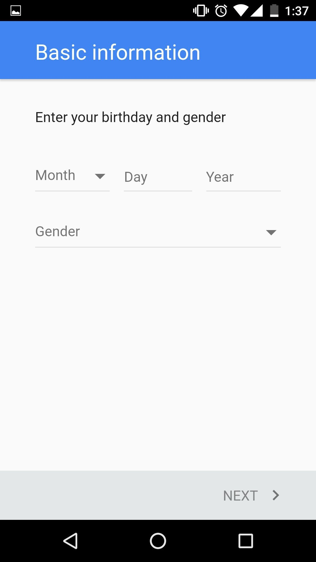 how to change google account on android