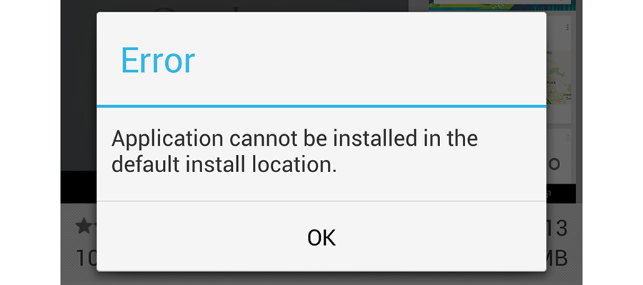cannot install apps on android