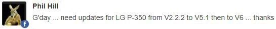 LG Optimus ME P350 update