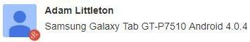 Samsung Galaxy Tab update