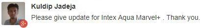 Intex Aqua Marvel Plus update