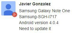 Samsung Galaxy Note update