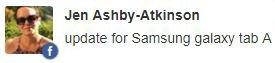 Samsung Galaxy Tab A update