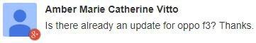 Oppo F3 update