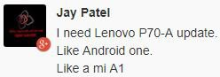 Lenovo P70 update