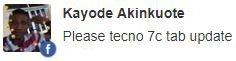 Tecno 7C update