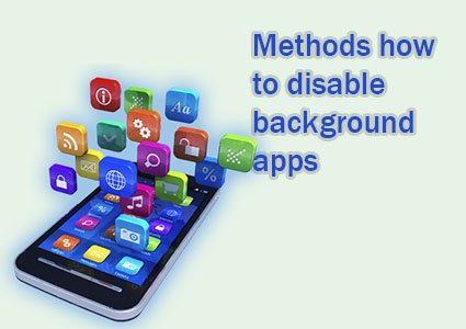 how to disable background apps