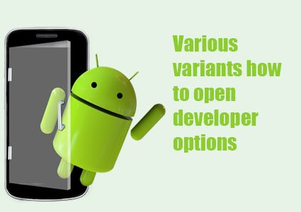 open developer options Android