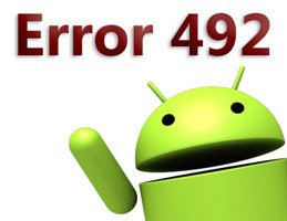 error code 492 in google play