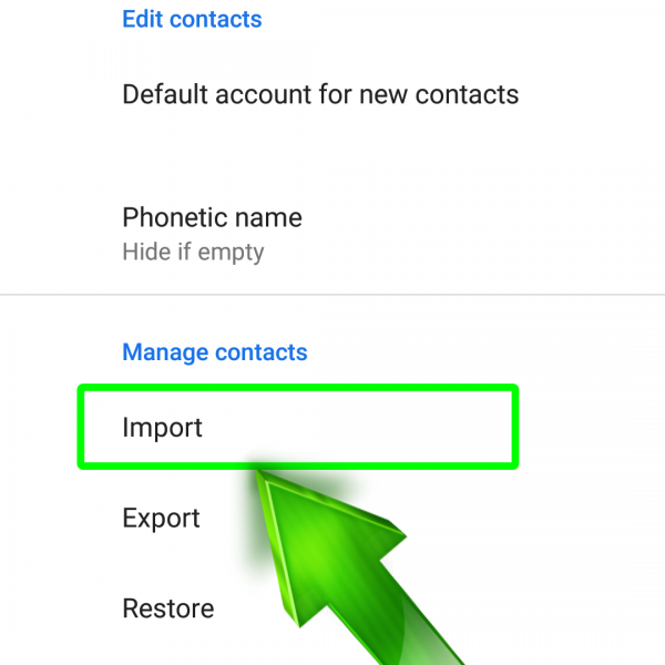 How to restore contacts