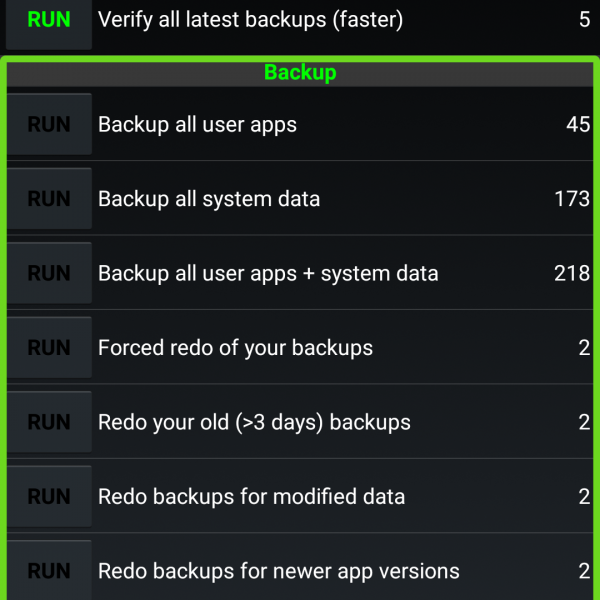 Android Backup APP