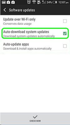 How to disable update Android OS