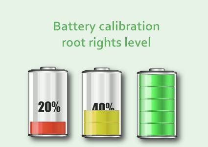 Battery calibration root rights level