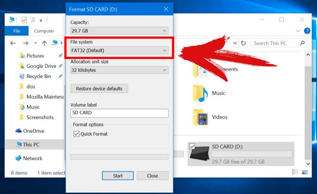 how to detect sd card