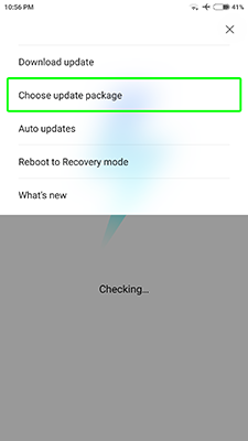 Xiaomi Redmi update for smartphone or tablet