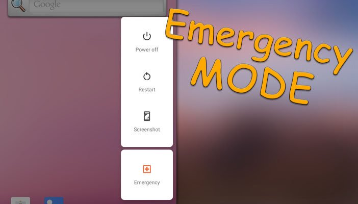 Emergency mode Android Q
