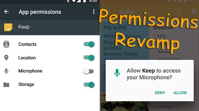 Permissions Revamp Android Q