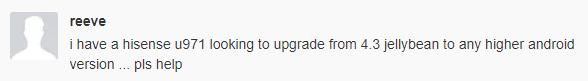 hisense u971 update