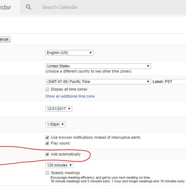 How to stop Google Calendar spam 2
