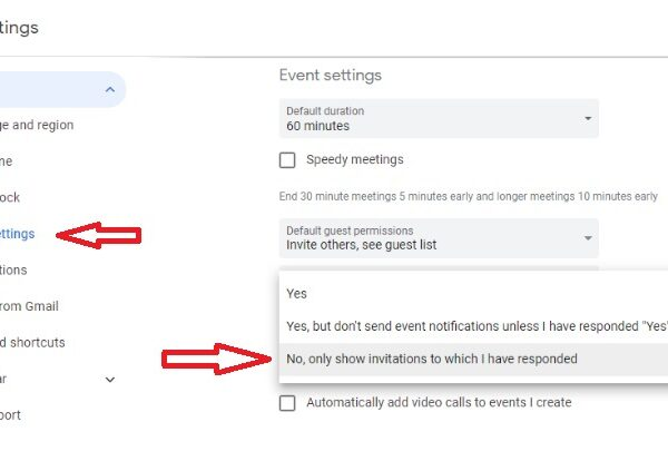 How to stop Google Calendar spam 1
