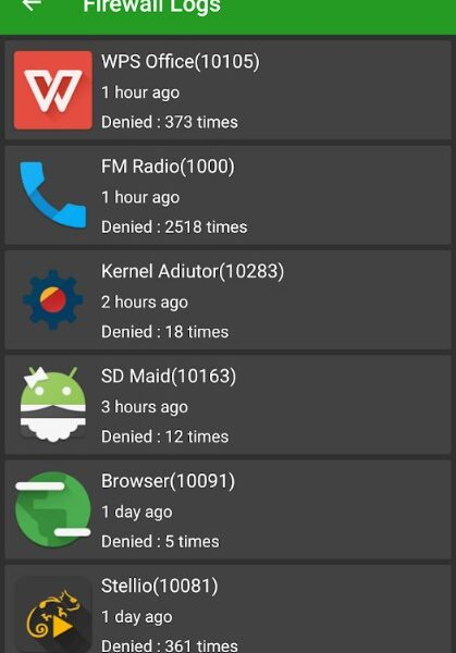 Firewall Android apk with root