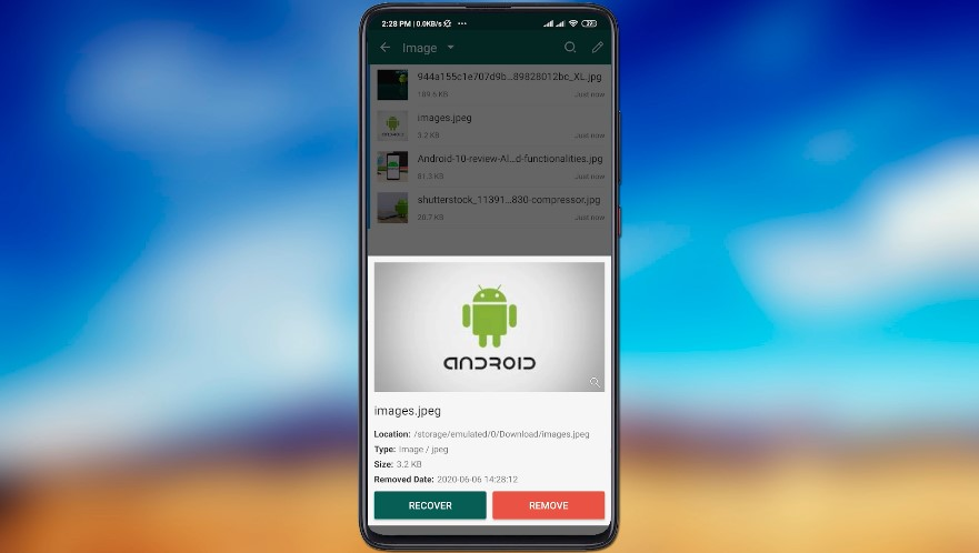 Android Recycle Bin recover and Remove